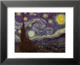 Stjärnklar natt, 1889 Posters av Vincent van Gogh