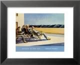 Gente nel sole Poster di Edward Hopper