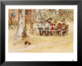 Breakfast under the Big Birch Print by Carl Larsson