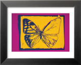 Vanishing Animals: Butterfly, c.1986 (Yellow on Purple) Poster by Andy Warhol