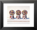 Wayne Thiebaud - Three Machines, 1963 - Reprodüksiyon