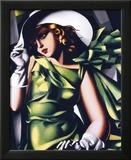 Mädchen in grün Poster von Tamara de Lempicka