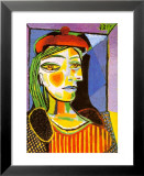 Girl with Red Beret Affischer av Pablo Picasso