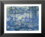 Water Lilies and Willow Branches Poster af Claude Monet