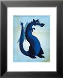 Dragon bleu Affiches par John Golden