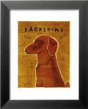 Dachshund (red) Kunstdrucke von John Golden