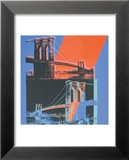 Brooklyn Bridge, c.1983 (pink, red, blue) Póster por Andy Warhol