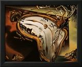 Weiche Uhr im Moment ihrer ersten Explosion, ca. 1954 Poster von Salvador Dalí