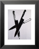 Knives, c.1981-82 (three black on cream) Plakater af Andy Warhol