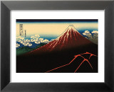 Lightning Below the Summit Kunstdrucke von Katsushika Hokusai