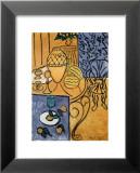 Intérieur en jaune et bleu, 1946 Art par Henri Matisse
