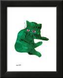 Chat vert, vers 1956 Affiche par Andy Warhol