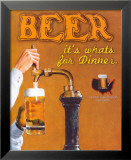 Beer: It's What's for Dinner Kunstdruck von Robert Downs