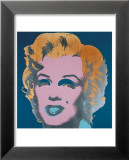Marilyn, c.1967 (On Peacock Blue, Pink Face) Prints by Andy Warhol