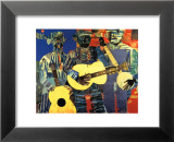 Three Folk Musicians, 1967 Affiche par Romare Bearden