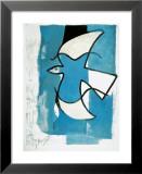 L'oiseau bleu et gris Affiches par Georges Braque