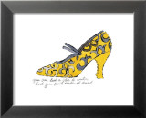 Yellow Pattern Shoe, c.1955 Affiches par Andy Warhol