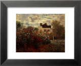 Artist's Garden in Argenteuil Prints by Claude Monet