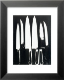 Knives, c.1981 (black and white) Print by Andy Warhol