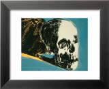 Skull, c.1976 (yellow on teal) Poster von Andy Warhol