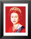 Reigning Queens: Queen Elizabeth II of the United Kingdom, c.1985 (Light Outline) Kunst von Andy Warhol