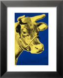 Cow, c.1971 (Blue and Yellow) Poster van Andy Warhol