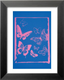 Vanishing Animals: Butterflies, c.1986 (Hot Pink on Blue) Prints by Andy Warhol