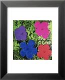 Flowers (Purple, Blue, Pink, Red) Kunstdruck von Andy Warhol