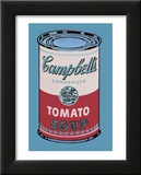 Campbells soppburk, 1965, rosa och röd Poster av Andy Warhol