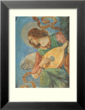 Angel with Lute Posters af Melozzo da Forl