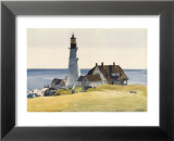 Lighthouse and Buildings, Portland Head, Cape Elizabeth, Maine, c.1927 Poster di Edward Hopper