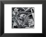 Relativité Poster par M. C. Escher