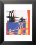 Brooklyn Bridge, c.1983 (black bridge/white background) Pósters por Andy Warhol
