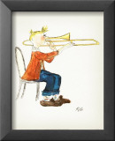 Trombone Posters by Rivka 