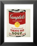Campbell's Soup Can, c.1962 (Old Fashioned Tomato Rice) Print by Andy Warhol