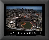 San Francisco - Skyline with Pac Bell Park Print by Mike Smith