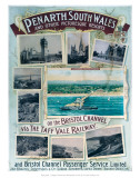 Penarth South Wales, on the Bristol Channel Via the Taff Vale Railway Art