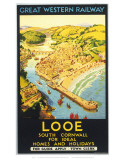 Looe, South Cornwall Print