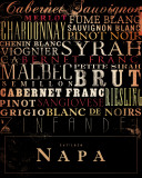 Napa Type Print by Stephen Fowler