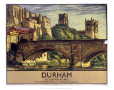 Durham, It's Quicker by Rail Prints