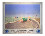 The Cambrian Coast, Miles of Glorious Sands GWR Affiches