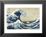 The Great Wave at Kanagawa Plakater av Katsushika Hokusai
