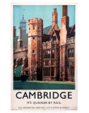 Cambridge It's Quicker by Rail, Peterhouse Posters