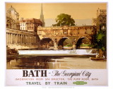 Bath, The Georgian City Affiches