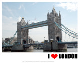 Tower Bridge, I Love London Posters