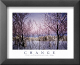 Change: Snowy Trees Posters
