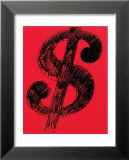 Dollar Sign, c.1981 (black on red) Láminas por Andy Warhol