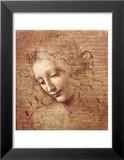 Vrouwenhoofd, ca 1508 Poster van  Leonardo da Vinci
