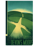 Great Western to Devon's Moors Poster