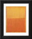 Orange et Jaune Posters par Mark Rothko